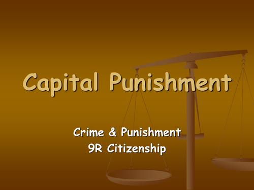 is capitol punishment a crime deterant Category: argumentative persuasive essays title: capital punishment essay - death penalty as a deterrent to crime.