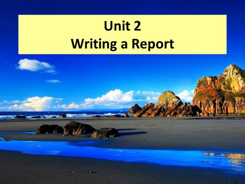 WJEC Using Written Lang- Report writing