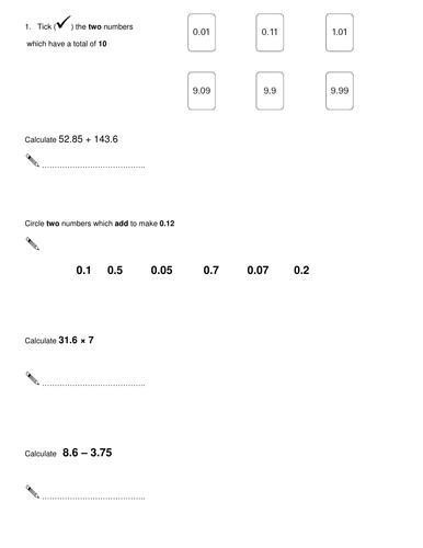 Y6 Maths Sat Questions 1 20 Grouped Topics 6164263 on Fraction Circle Worksheets
