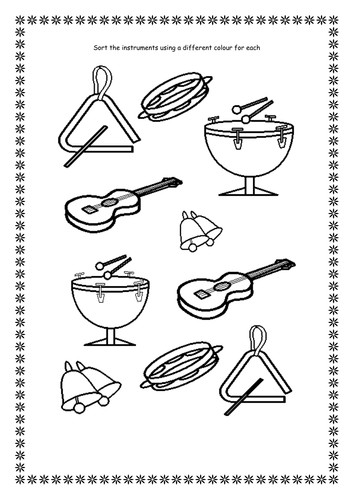 Sounds of instruments, sorting & labelling by rzrzneck34a