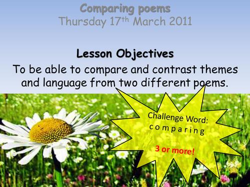 Comparing Poems Full Lesson PP