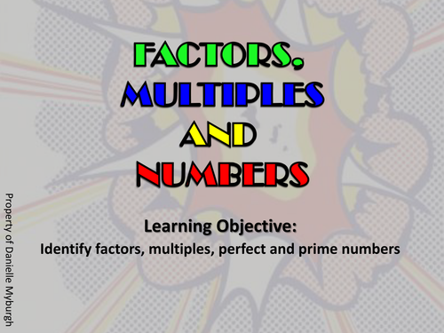 KS3 Maths: Multiples Prime & Perfect Numbers