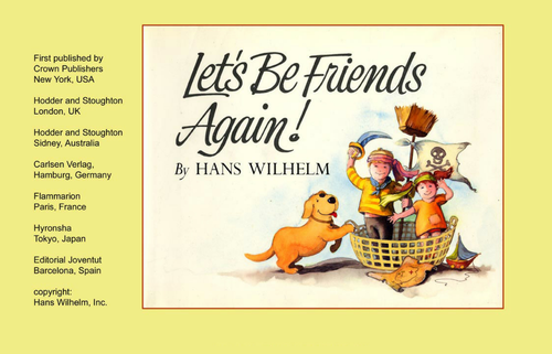 Lets Be Friends Again BOOK