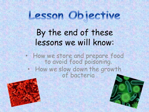 SEN lesson on Food hygiene and Microorganisms