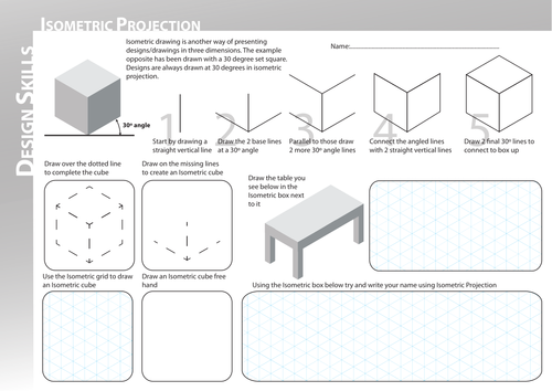 Isometric Worksheet by Vex Teaching Resources Tes – Isometric Drawing Worksheet