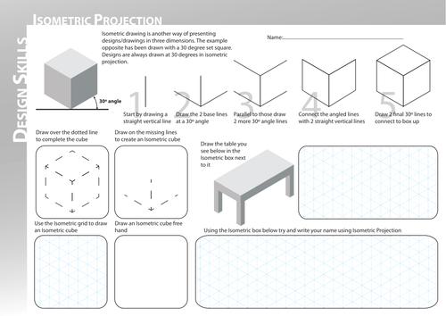 isometric worksheet by vex teaching resources tes. Black Bedroom Furniture Sets. Home Design Ideas