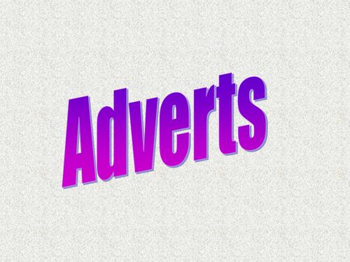 Writing Adverts