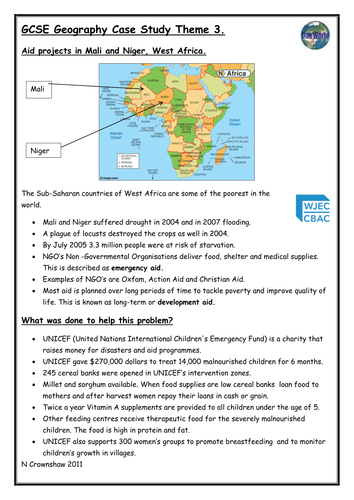 Case studies GCSE Geography AQA A by Maxwell      Teaching Resources   Tes Marked by Teachers