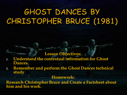 Introduction to Ghost Dances by Christopher Bruce