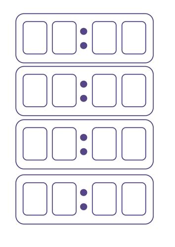A sheet of 4 blank digital clocks