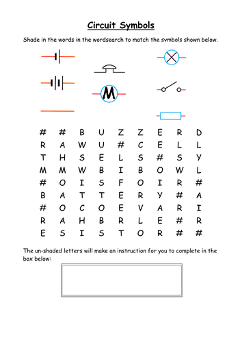 Electric Circuit Components Wordsearch By Cathb1975