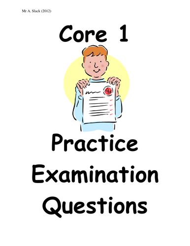 A Level Maths Core 1 Question Booklet
