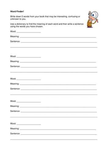 Book Detectives: Summariser and Word Finder by pinkstars324 ...