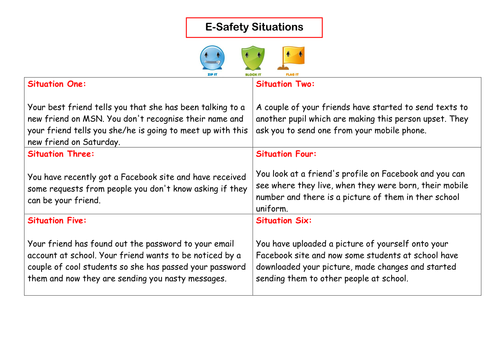 Esafety Outstanding Lesson by naimish Teaching Resources Tes – Internet Safety Worksheets