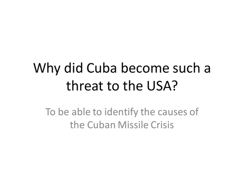 Cuban Missile Crisis by timjohnson100 Teaching Resources TES – Cuban Missile Crisis Worksheet