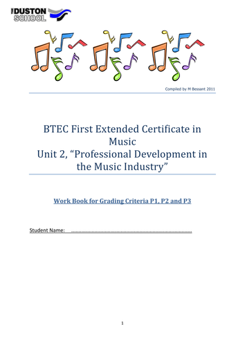 BTEC level 2 Unit 2 workbook