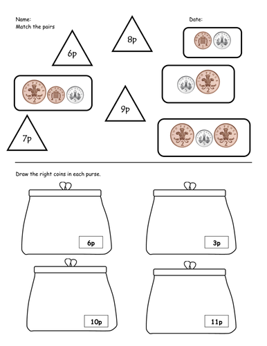 Counting Money Worksheets : counting money worksheets tes Counting ...
