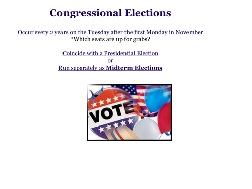Midterm Elections PowerPoint