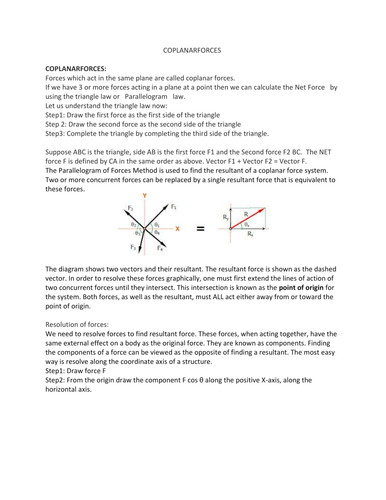 Resultant Forces by shankar66 | Teaching Resources