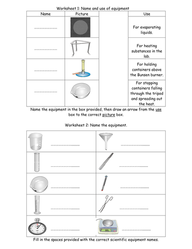 Worksheets Laboratory Equipment Worksheet equipment worksheets by jimmylittlewing teaching resources tes