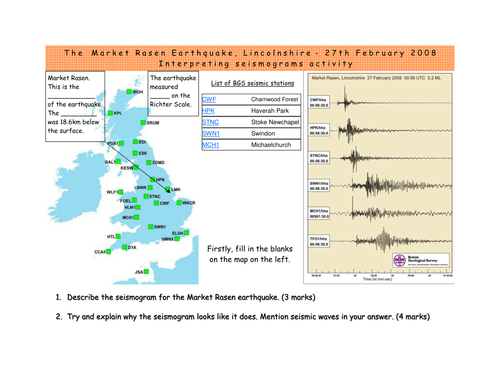 interpreting seismograms worksheet by gwwm62 teaching