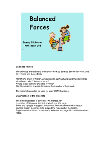 KS3 Forces Smartboard file