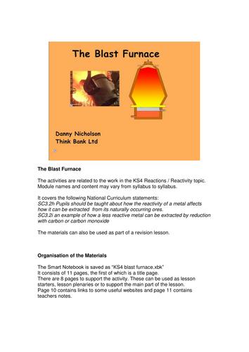KS4 Blast furnace smart notebook file