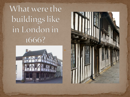 Create Tudor Houses and fiery backgrounds