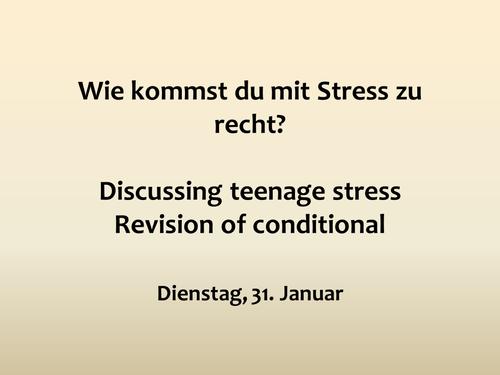 Teenage Stress - using Edexcel GCSE resources