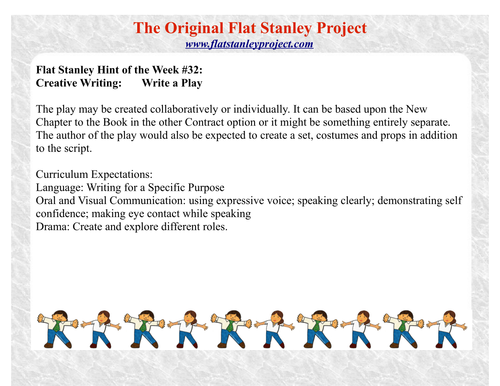 Flat Stanley: Write a play
