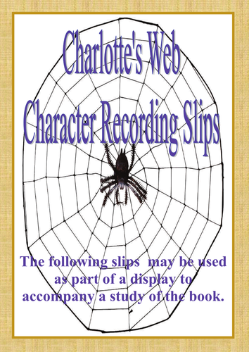 Charlotte's Web - Character Cards