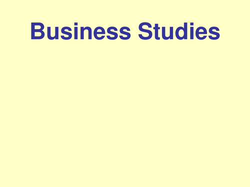 AS Level Business Studies Revision (AQA BUSS1) - YouTube