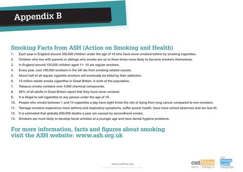 Literacy exercise using tobacco addiction.