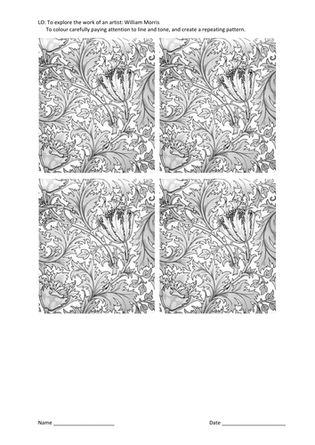 William Morris repeating tiles
