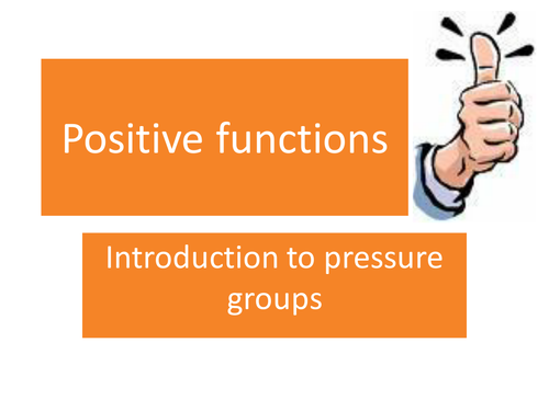 Functions of Pressure Groups