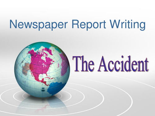 Newspaper report writing activities