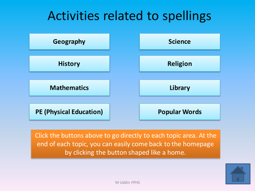 FUN spelling activies on powerpoint with AFL