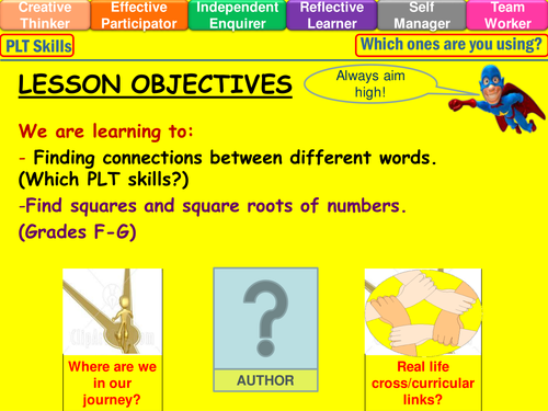 Square Numbers and Square Roots lesson by mistrym03 Teaching – Square Numbers Worksheet