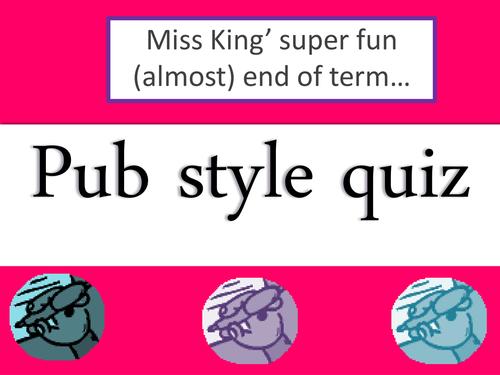 Super-Fun Pub Quiz