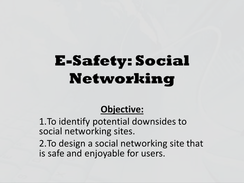 Social Networking and Online Safety