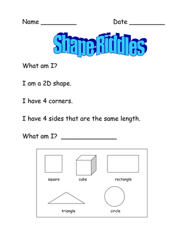 Shape Riddles