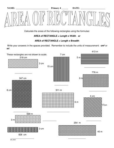 KS2 Area of Rectangles