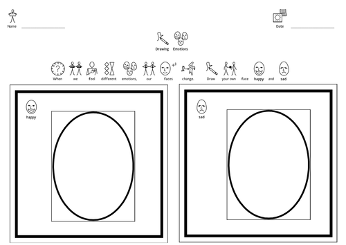 Sad Face Worksheet : Happy and sad faces widgit by deb teaching resources