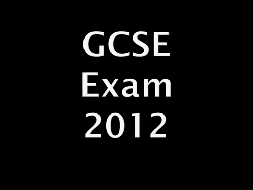 AS and GCSE Exam powerpoints