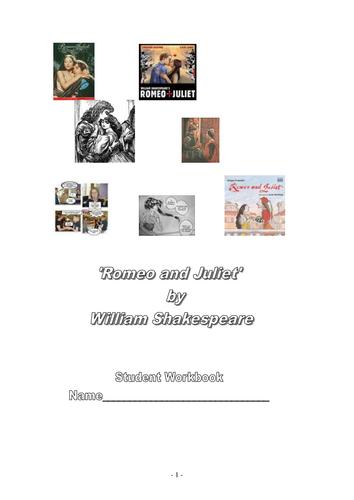 Romeo and Juliet by William Shakespeare: Workbook