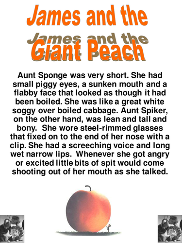 Worksheets James And The Giant Peach Worksheets james and the giant peach reading lesson by senteacher86 worksheets ppt