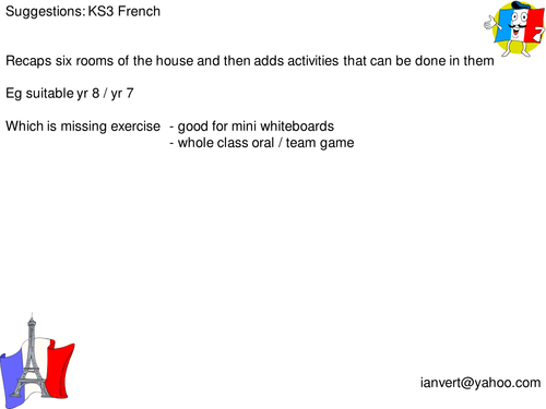 Rooms Of The House And Activities French By Ianvert Teaching