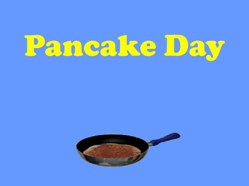 Pancake Day PowerPoint - Jesus in the Desert