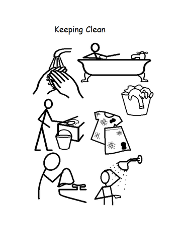 keeping clean coloring pages - photo#2