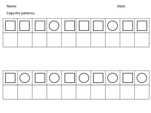 pattern copy 2d shapes by kakacik teaching resources. Black Bedroom Furniture Sets. Home Design Ideas